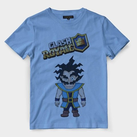 Camiseta Mago Eletrico Game Clash Royale Masculina Personagem na internet