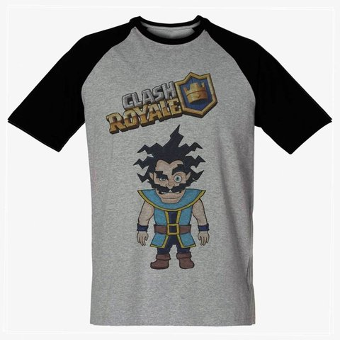 Camiseta Mago Eletrico Game Clash Royale Masculina Personagem - LOJADACAMISA