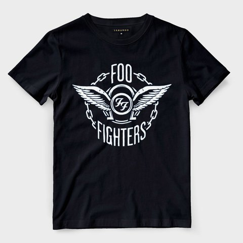 Camiseta Foo fighters Preta Masculina Bandas de Rock