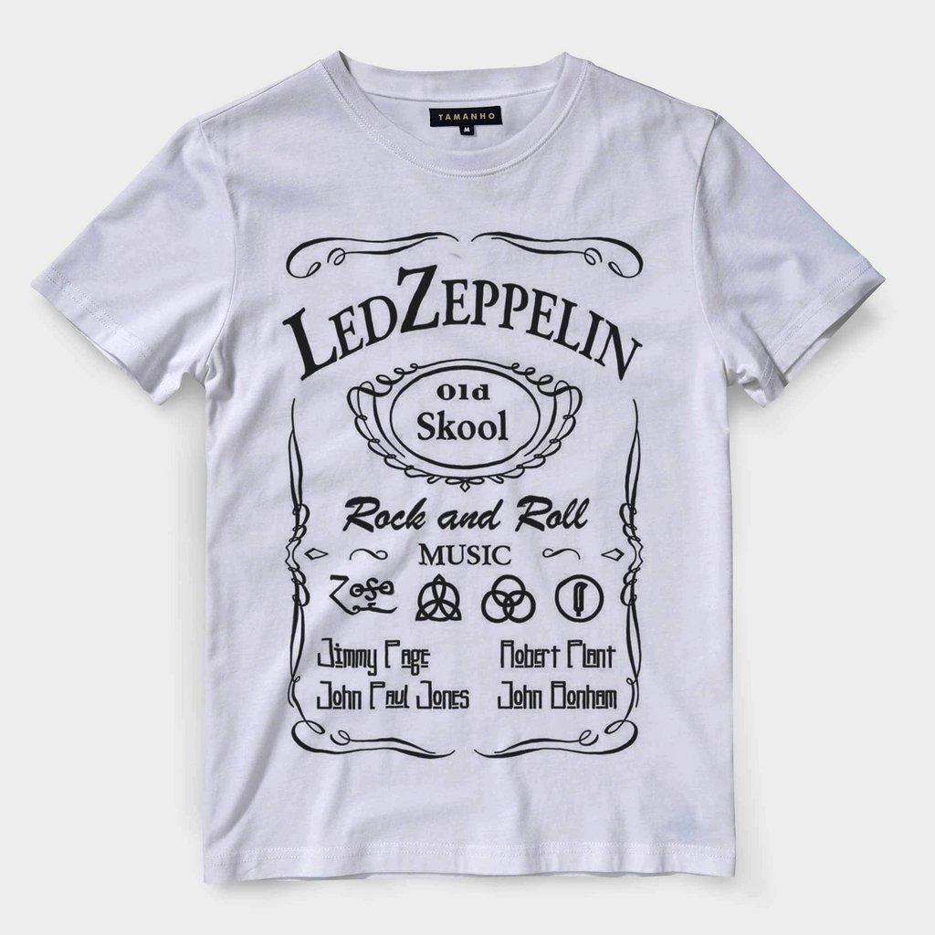 114eec7be Camiseta Led Zeppelin Masculina Banda de Rock Classico