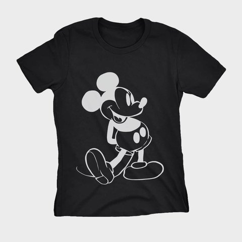 Camiseta Estampa Mickey Mouse Feminina Original Barata