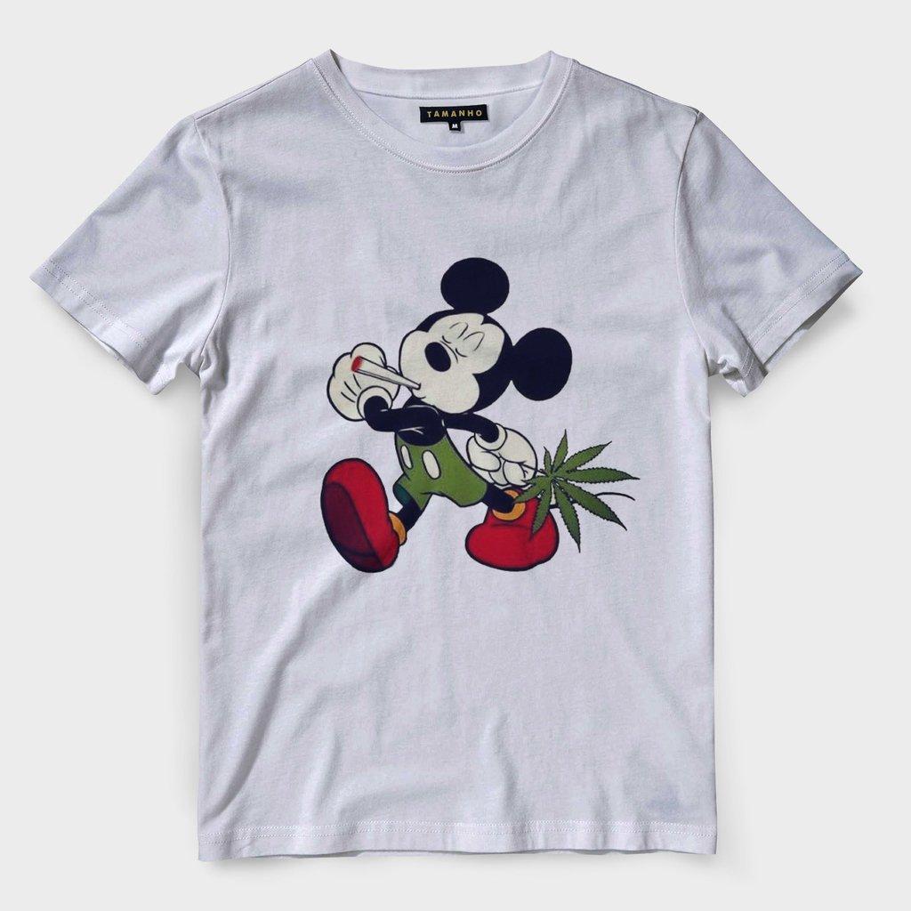 comprar online 8a138 3b70c camiseta mickey mouse chapado maconha masculina