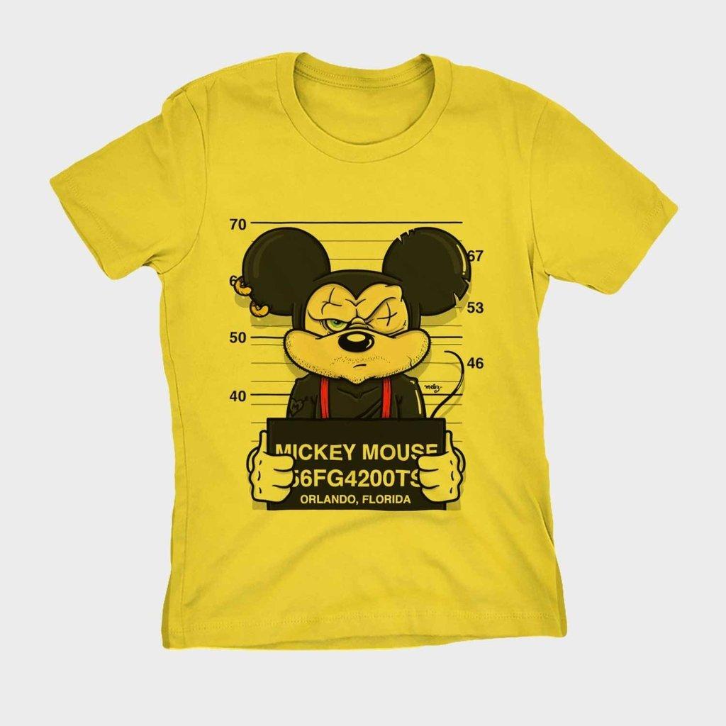 bfd8bc7fc7 camiseta mickey swag preso camisa Feminina Blusa Babylook