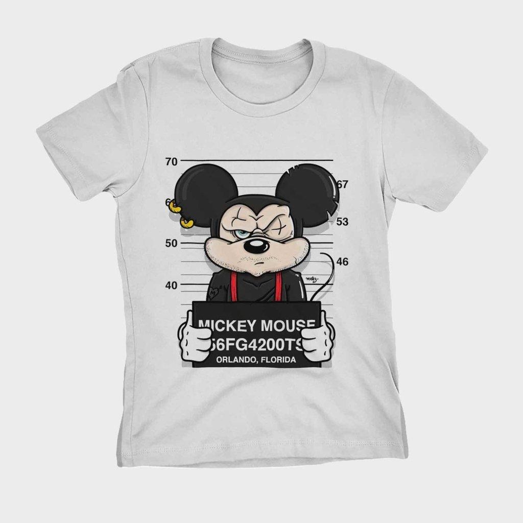 ec267030a9 ... camiseta mickey swag preso camisa Feminina Blusa Babylook na internet  ...