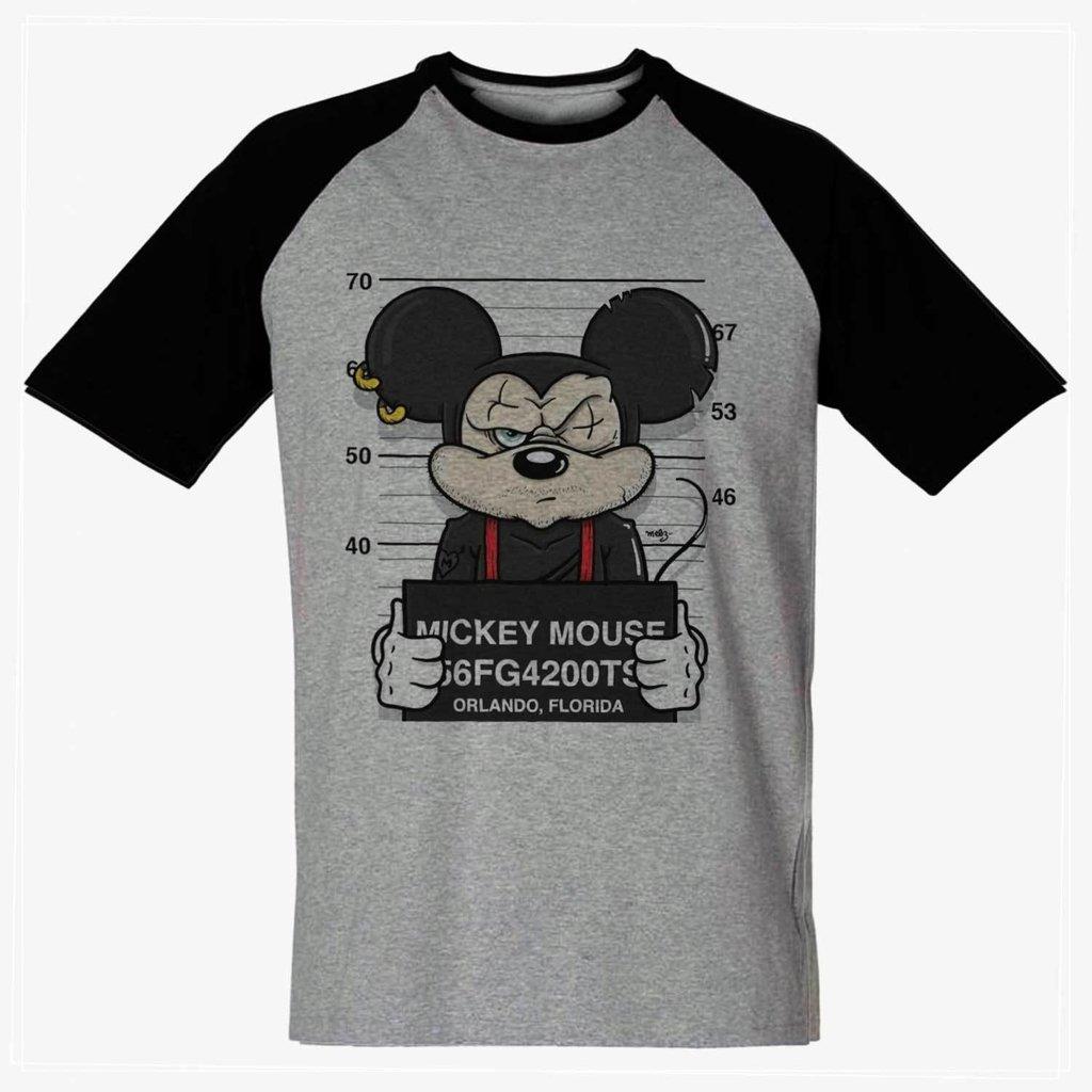 72bc7b3b7 ... Imagem do camiseta mickey swag preso camisa masculina Blusa
