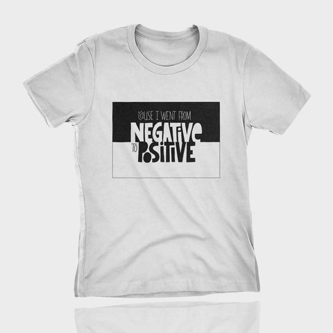 T-shirt Estampa de RAP notorious big negative to positive - comprar online