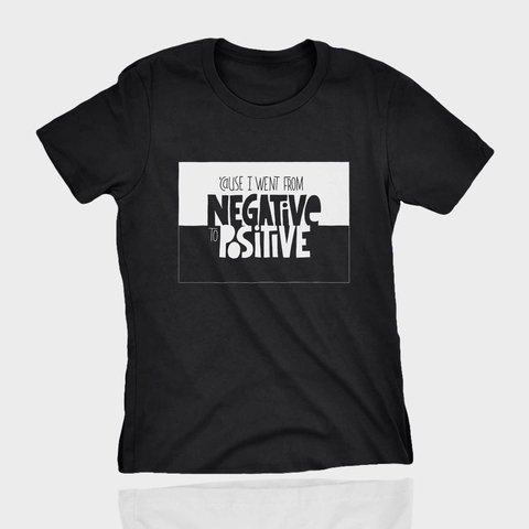 T-shirt Estampa de RAP notorious big negative to positive