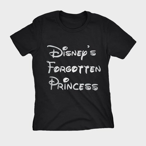 Camiseta Princesa Disney Preta Forgotten Princess