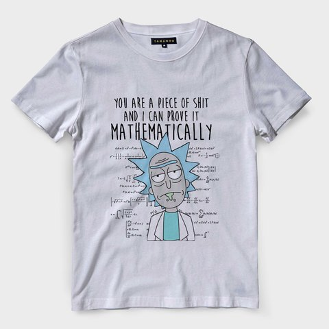 Camiseta Rick And Morty Shit Masculina Camisa Blusas Baratas
