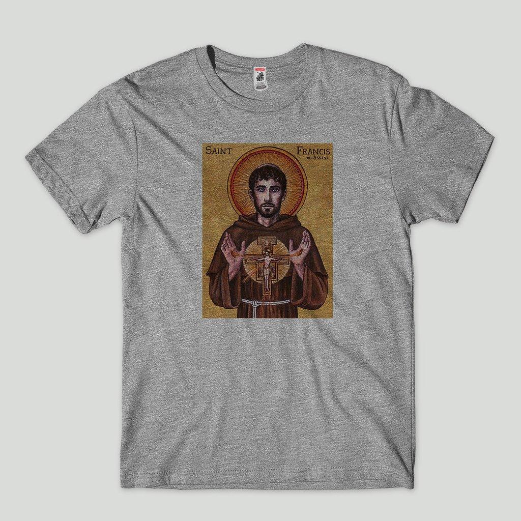 35d8521bce Camiseta São Francisco Religiosa Masculina Algodão