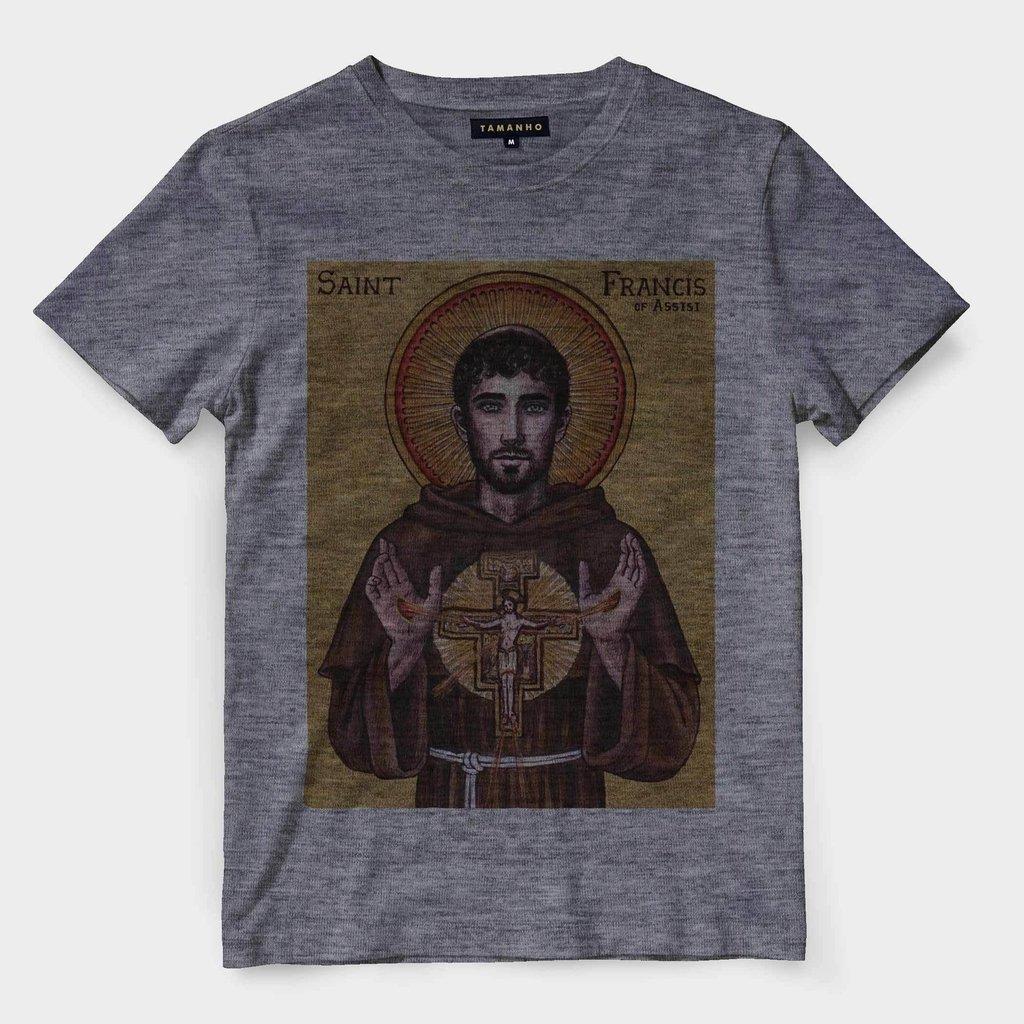 69985555f9 ... Camiseta São Francisco de Assis Gospel Religiosa Evangelica Santo - comprar  online ...