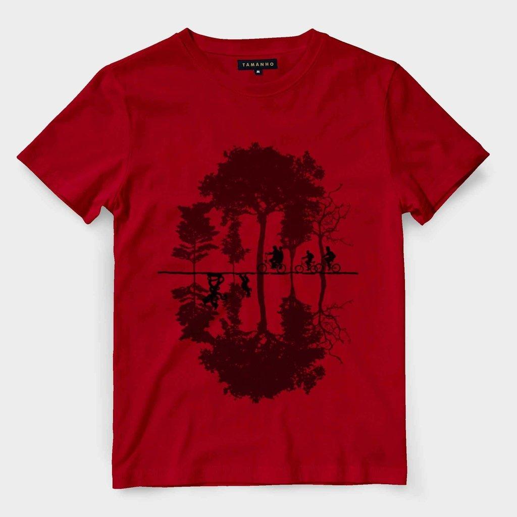 62e9120b95d4 Camisa Stranger Things Mundo Invertido Serie Blusa Feminina