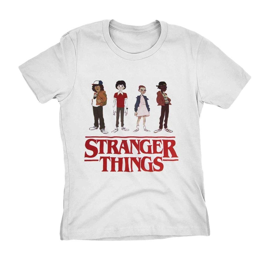 fc5b5d977 camiseta stranger things serie netflix personagens camisa blusa feminina