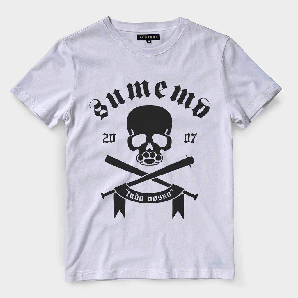 20a2a6172 Camiseta Sumemo Caveira Tudo Nosso Camisa Blusa Masculina