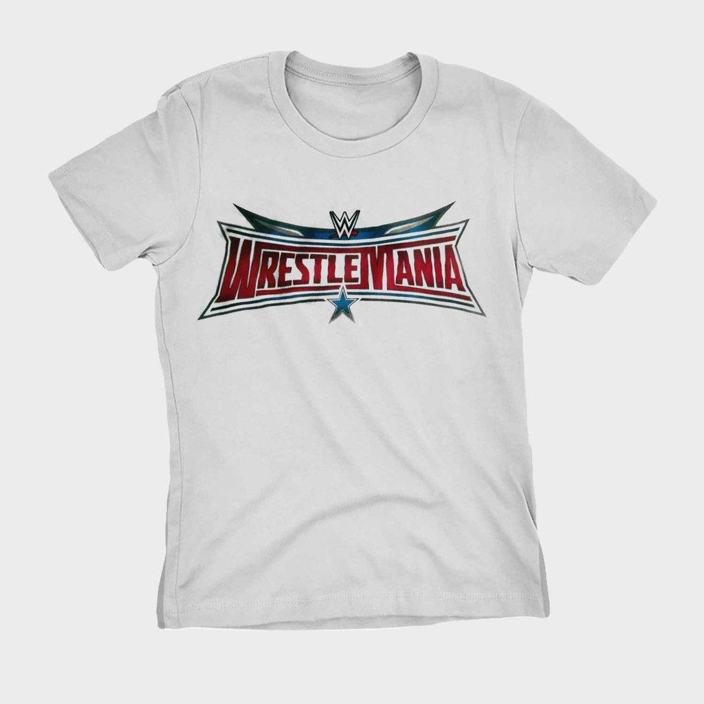 ebe6fd9df Camiseta Wrestling Wrestlemania WWE Blusa Camisa Feminina
