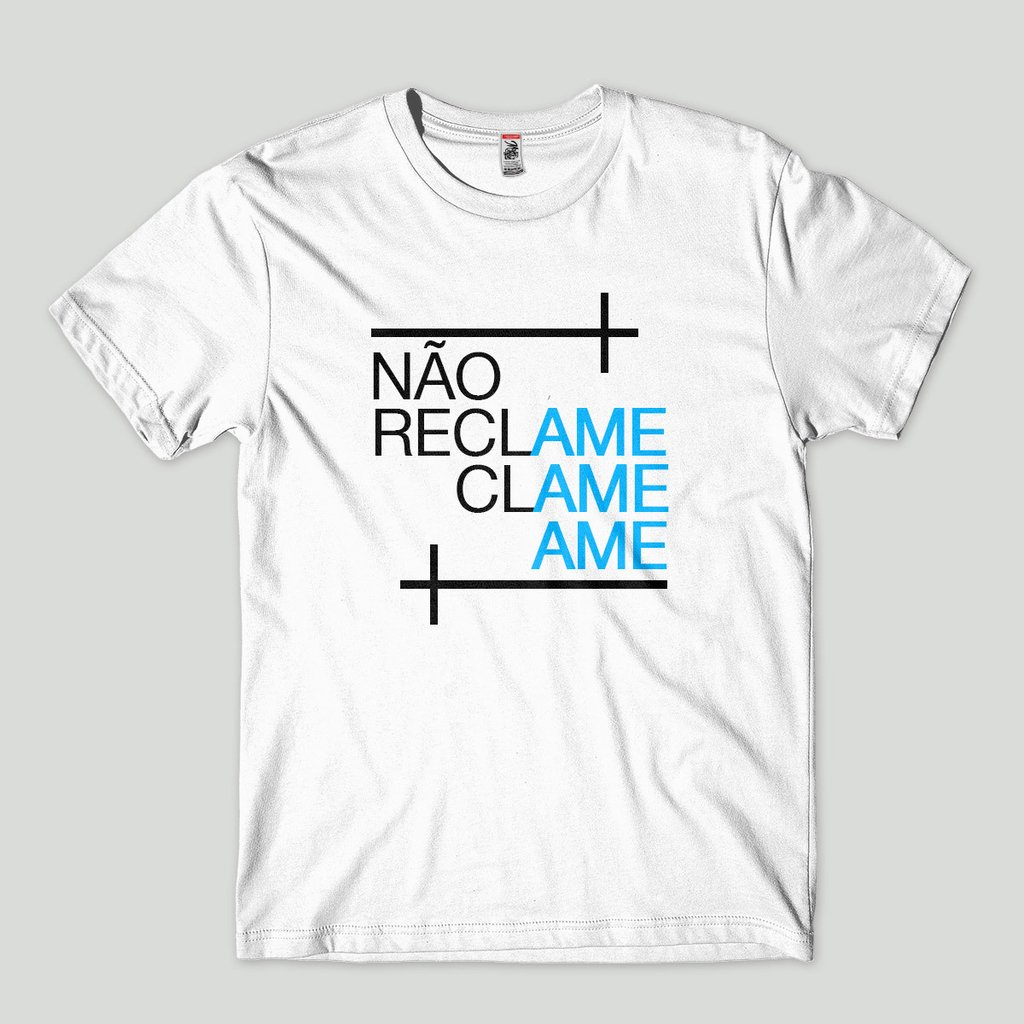 camisetas evangélicas criativas masculina nao reclame ame 2288f1d7d069d