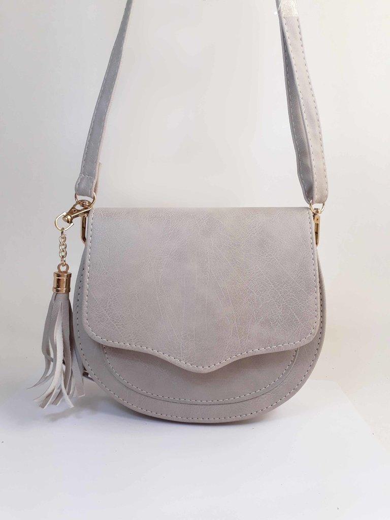 d96869c34 Bolsa Bag Michele Cinza - Bolsa Feminina pequena, tiracolo, de couro  ecológico