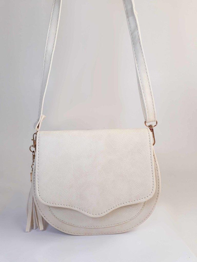 44e7c3639 Bolsa Bag Michele Branca - Bolsa Feminina pequena, tiracolo, de couro  ecológico