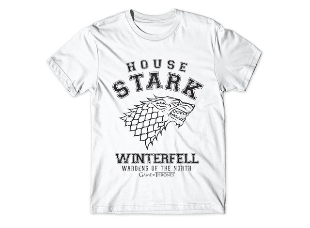 Camiseta House Stark Winterfell Game Of Thrones - comprar online