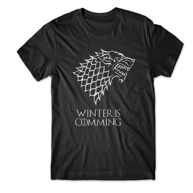 Camiseta Winter is Comming | Game Of Thrones na internet