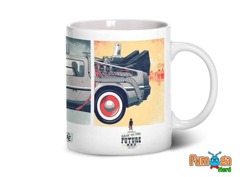 Caneca De Volta Para O Futuro - Back To The Future - Fumiga Nerd