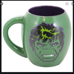 Caneca Porcelana Oval Marvel Hulk 530ml Zona Criativa CX 1 UN