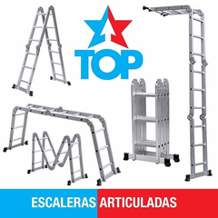 TOP Escalera multipropósito 4×4   4 tramos desplegables por 4 escalones de aluminio