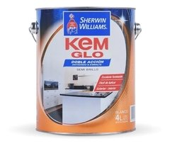 Kem Glo Esmalte Semi Brillo Blanco DOBLE ACCION Sherwin Williams -
