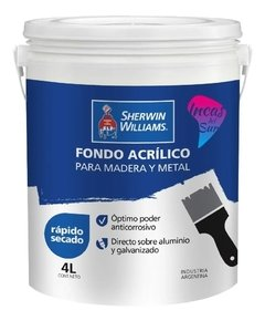 Fondo Acrílico Gris Madera Y Metal Sherwin Williams