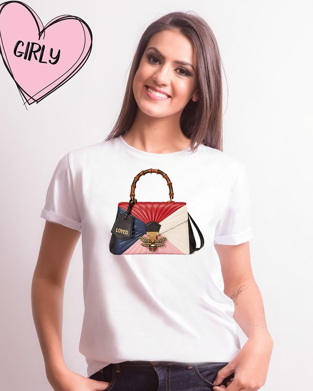Camiseta Bag Gucci Colorida