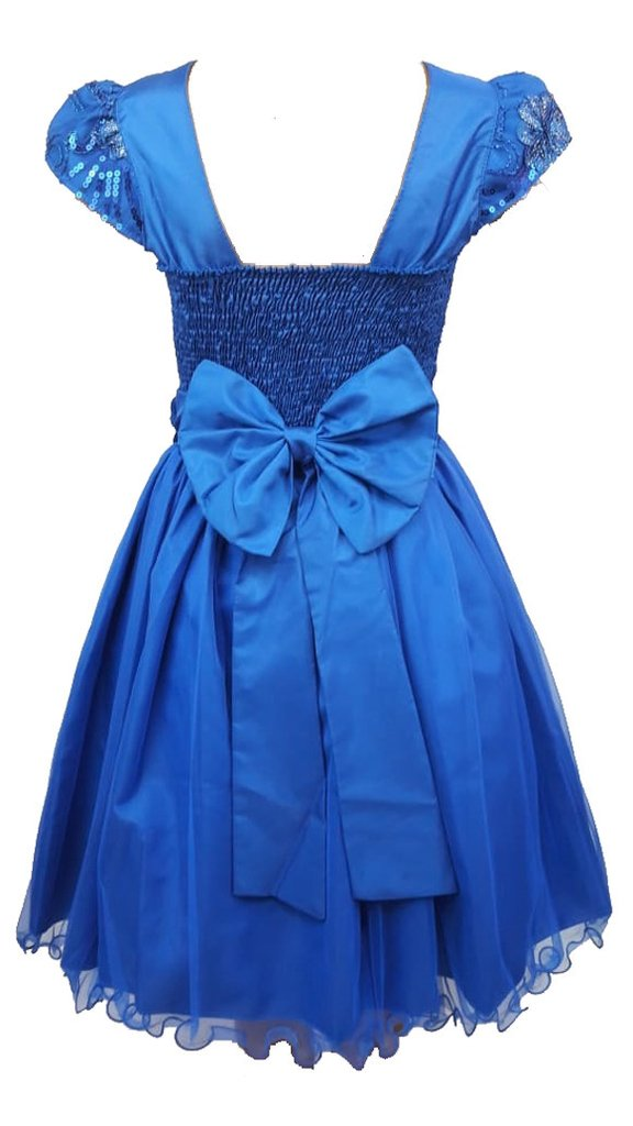 Vestido De Festa Infantil Azul Royal Bordado