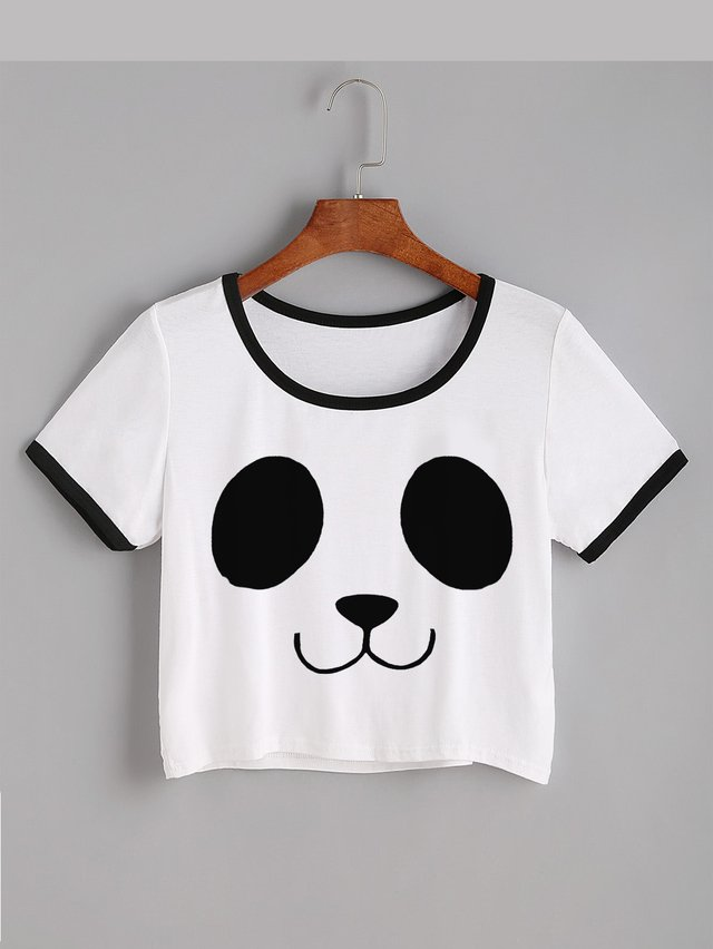 Camiseta crop top pandita