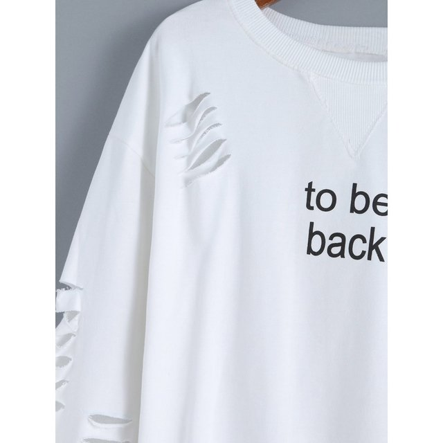 Buzo blanco roto to be back - Jako Fashion