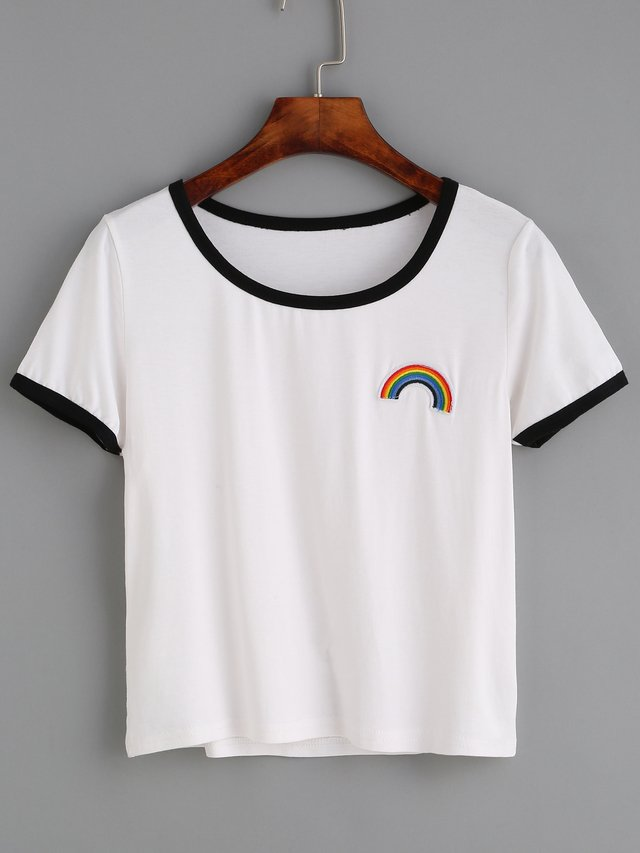 Camiseta arcoiris cute