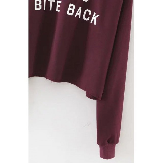 Buzo crop top girls bite back - Jako Fashion