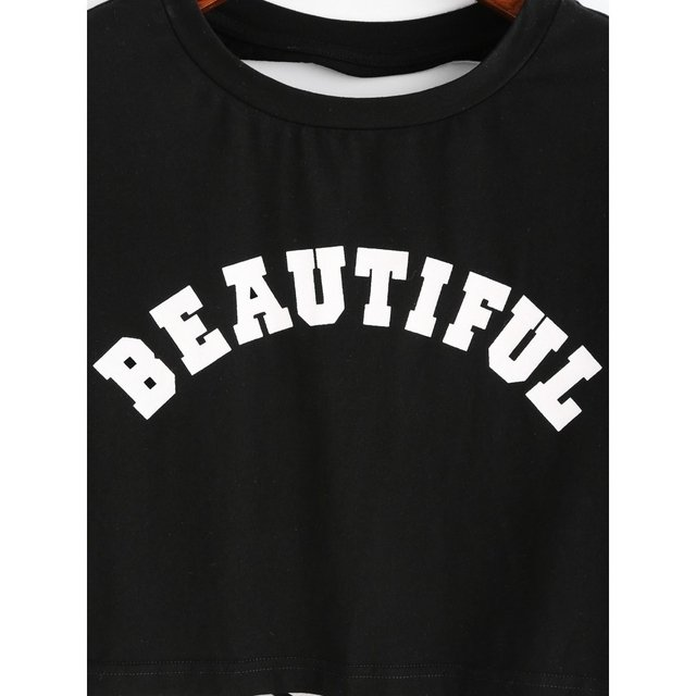 Camiseta top rasgada beautiful - comprar online