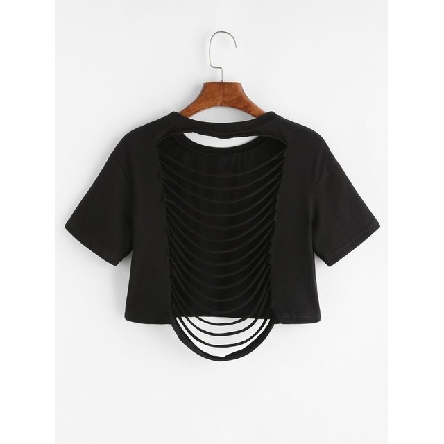 Camiseta top rasgada beautiful - Jako Fashion