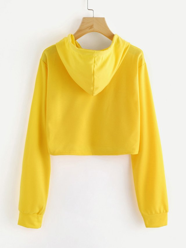 Buzo crop top tono amarillo cute - comprar online