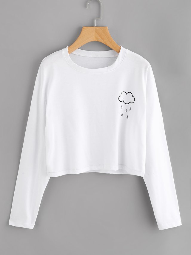 Buzo crop top blanco nubesita bloz