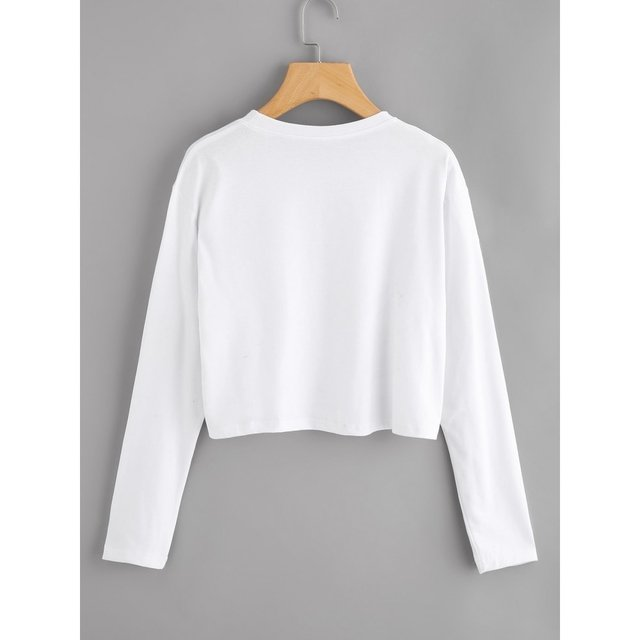 Buzo crop top blanco nubesita bloz en internet