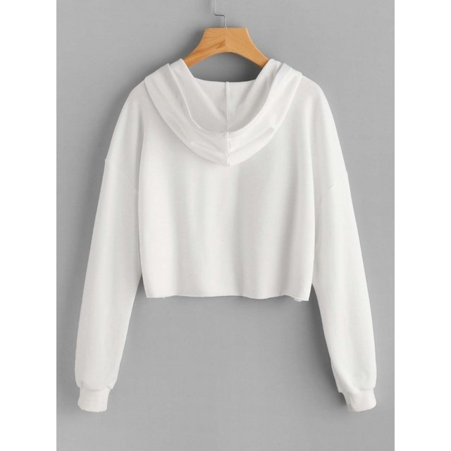 Buzo blanco crop top friends en internet