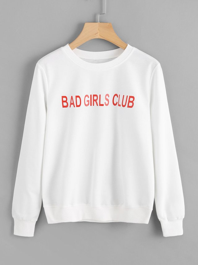Buzo algodón blanco bad girls club