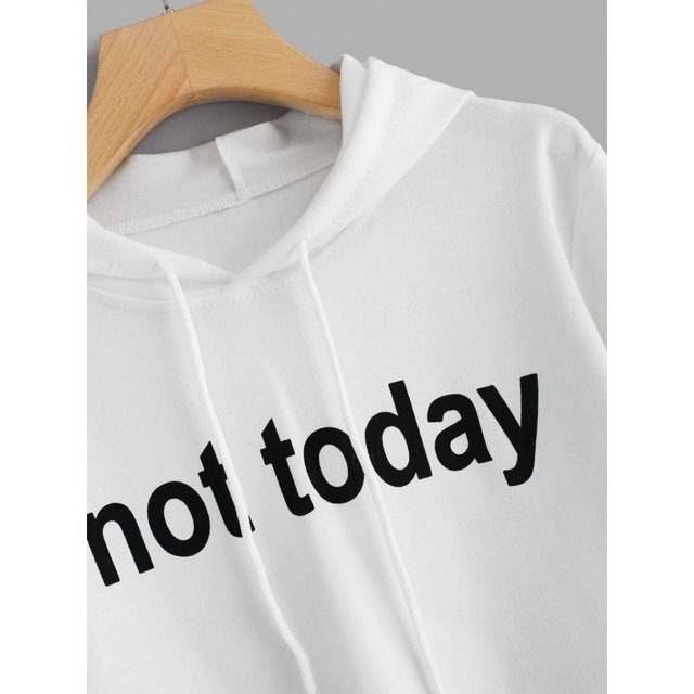 Buzo blanco not today - comprar online