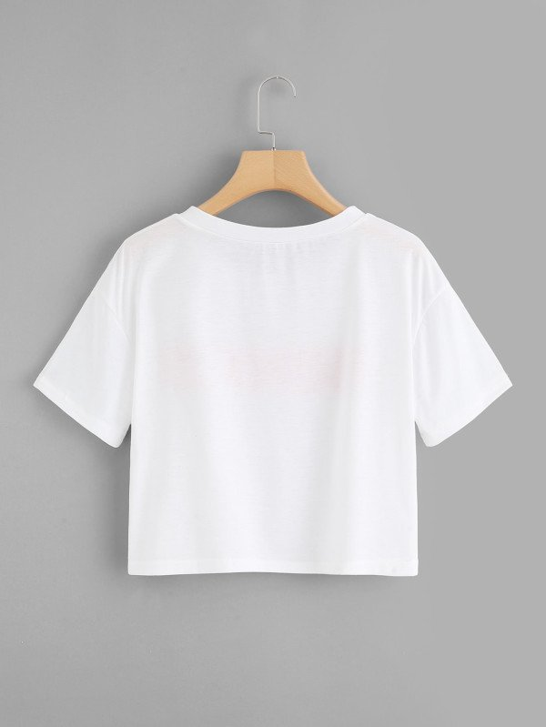 Crop top blanco honey cute - comprar online
