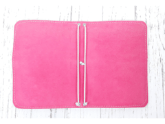 Capa Traveler's Notebook - Pink - Estúdio Papel Riscado |Bullets Journals e Planners <3