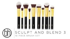 "BH COSMETICS: ""Sculpt and Blend 3"" Set de 10 pinceles en internet"