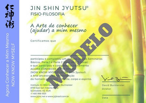 Certificado Now Know Myself JSJ