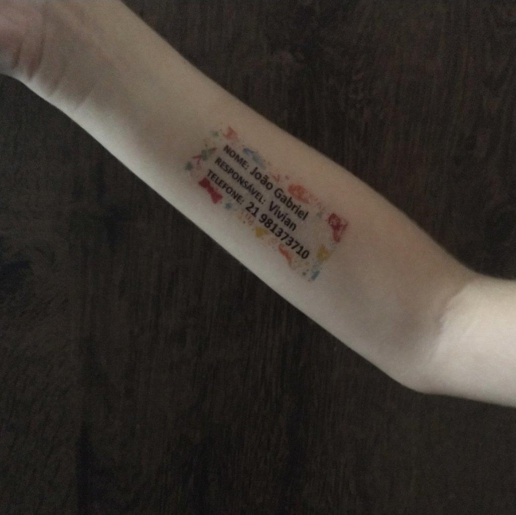 Tatuagens Temporárias De Identificação
