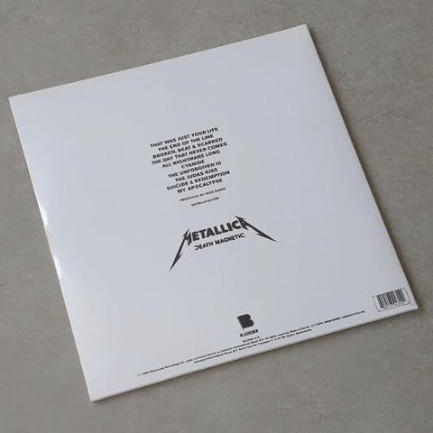 Vinil Lp Metallica Death Magnetic 2-lps Blackened Lacrado