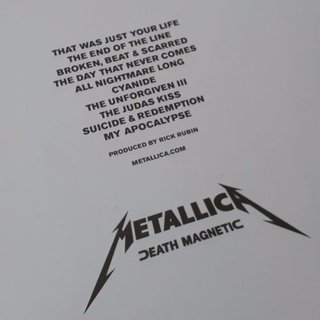 Vinil Lp Metallica Death Magnetic 2-lps Blackened Lacrado na internet